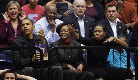Obama watches Oregon State beat GW 64-57