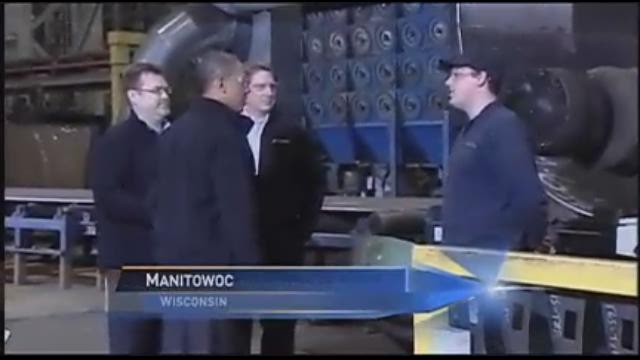 President Obama visits factories in WI