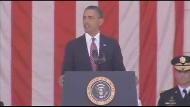 President Obama honors fallen troops at Arlington Cemetery