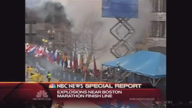 Raw: 1st Boston Marathon explosion caught on cam