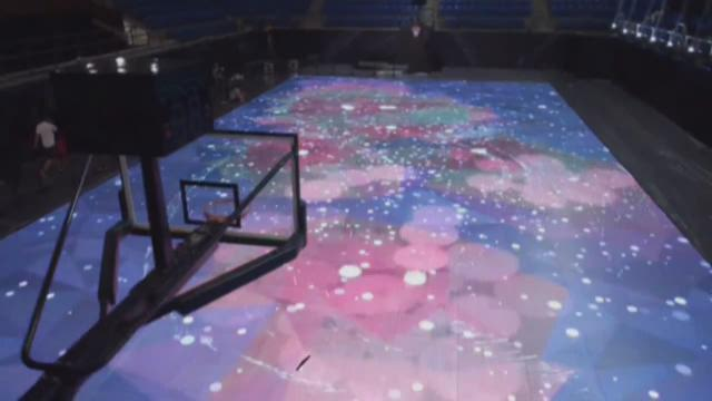 Prepare to be amazed by Nike's LED basketball court