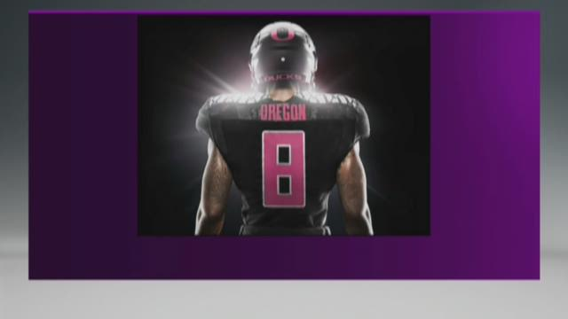 Last year's uniform included pink helmets, gloves and socks.