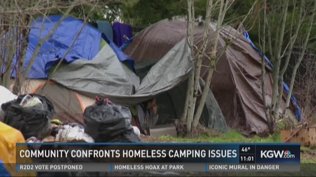Community confronts homeless camping issues