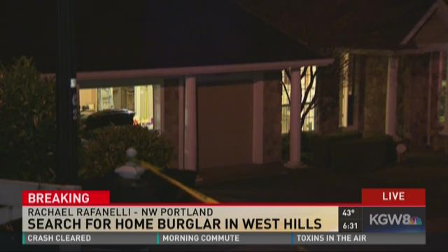 Search for home burglar in West Hills