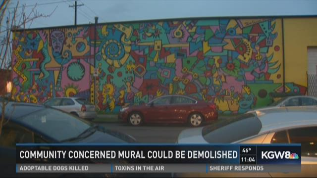 Community concerned mural could be demolished
