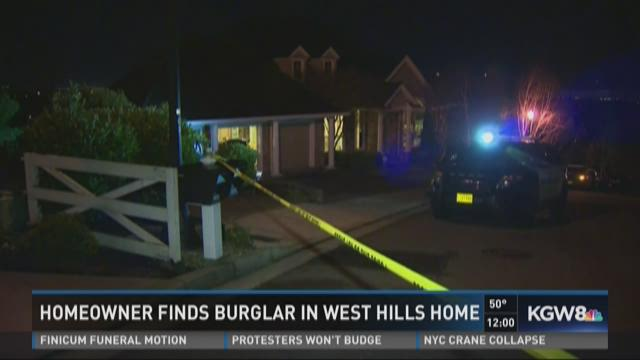 Homeowner finds a burglar in west hill home