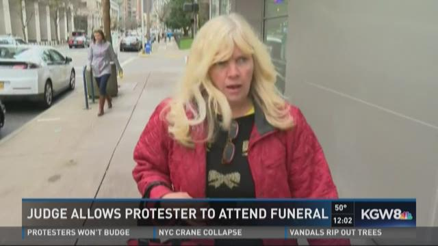 Judge allows protester to attend funeral