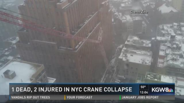 1 dead, 2 injured in NYC crane collapse