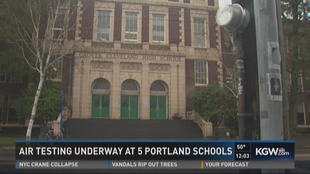 Air testing underway at 5 Portland schools