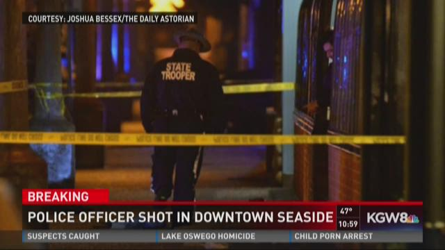 Police officer shot in downtown Seaside