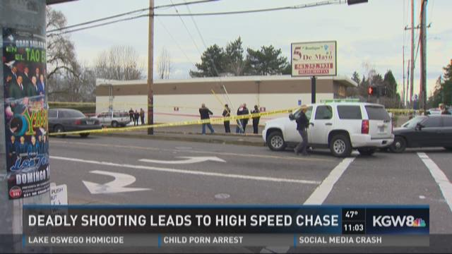 Deadly shooting leads to high speed chase