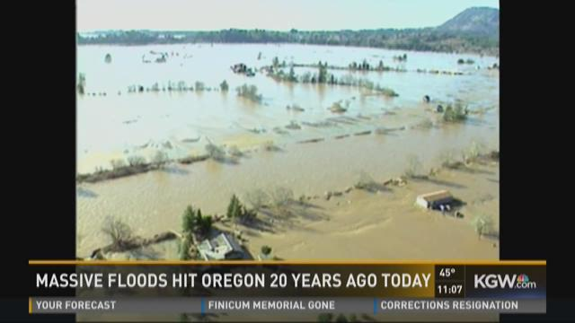 Massive flood hits Oregon 20 years ago today
