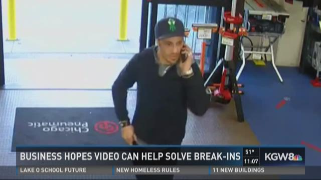 Business hopes video can help solve break-ins