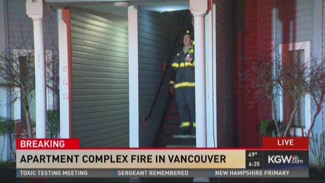 Apartment complex fire in Vancouver