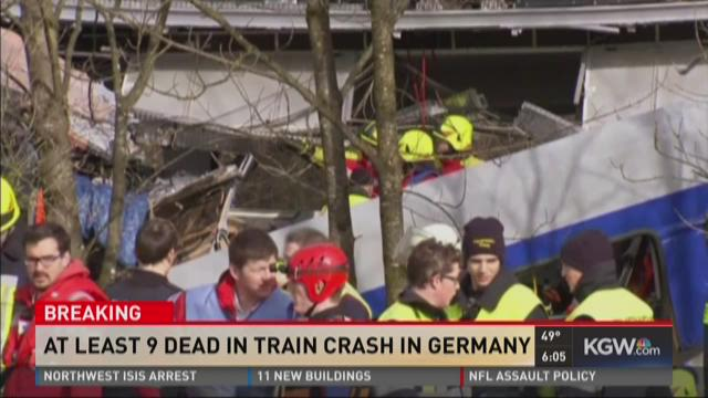 At least 9 dead in train crash in Germany