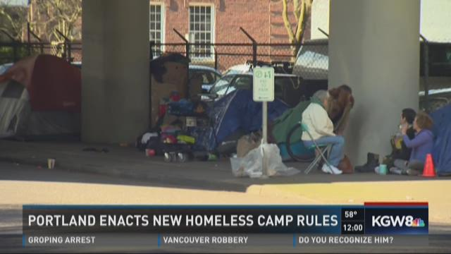 Portland enacts new homeless camp rules