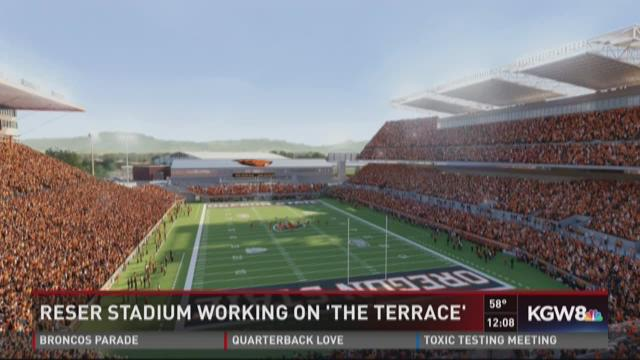 Reser Stadium working on 'The Terrace'