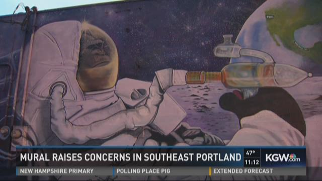 Mural raises concerns in Southeast Portland