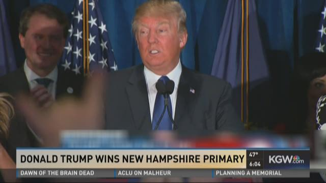 Donald Trump wins New Hampshire primary