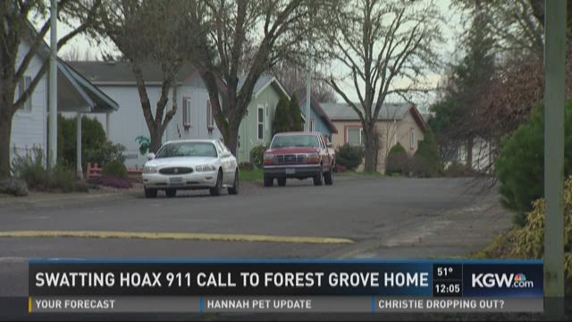 Swatting hoax 911 call to Forest Grove home