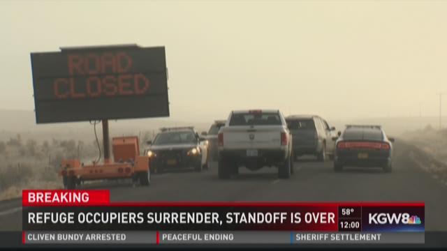 Refuge occupiers surrender, standoff is over