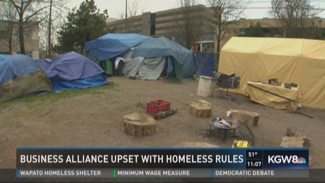 Portland Business Alliance upset with homeless rules