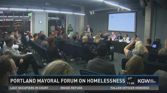 Portland mayoral forum on homelessness