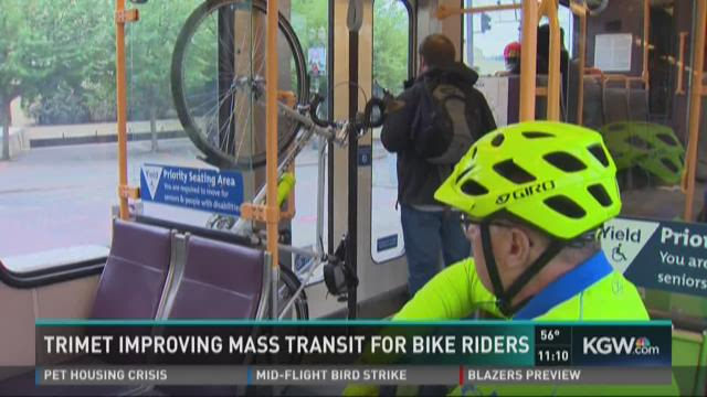 TriMet improving mass transit for bicyclists