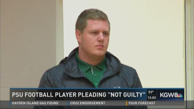 PSU football player pleading 'not guilty'