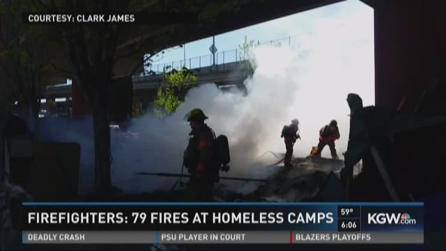 Firefighters: 79 fires at homeless camps