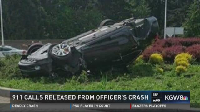911 calls released from officer's crash
