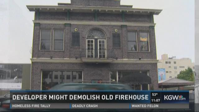 Developer might demolish old firehouse