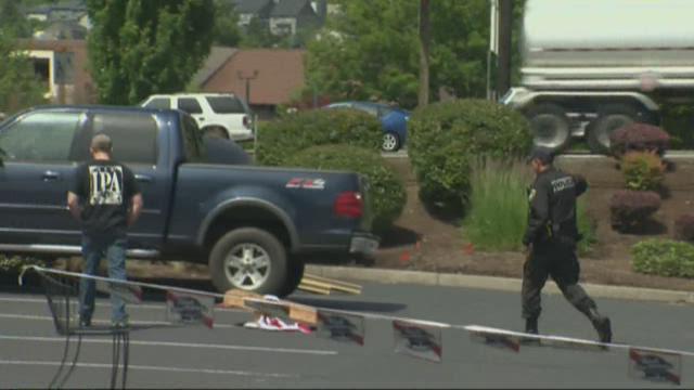 Driver plows through cornhole tournament