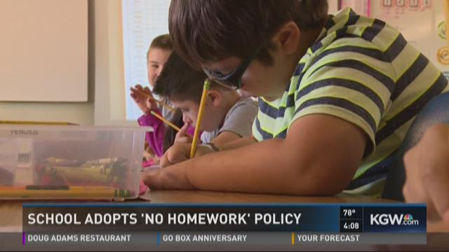 no homework policy Two rockland county public school districts are studying whether to revise homework policies  no homework it's two words students love hearing christopher deleon, a fifth-grader at farley.