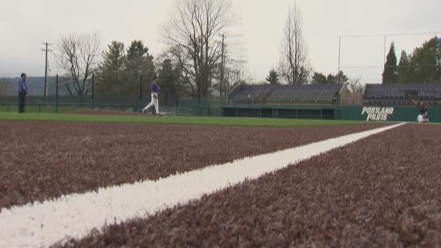 New baseball field at University of Portland