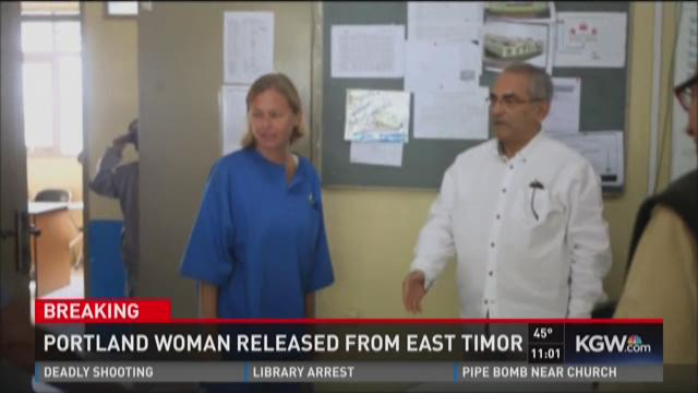 Portland woman released from East Timor