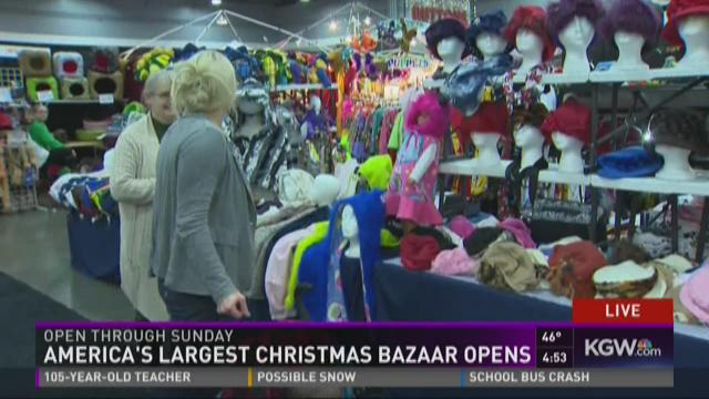 America's largest Christmas bazaar opens | KGW.com