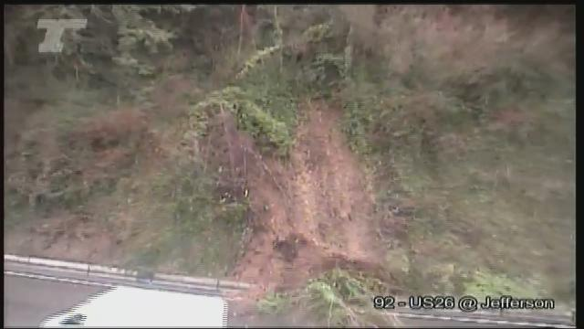 Landslide Blocking Us 26 Wb At The Tunnel