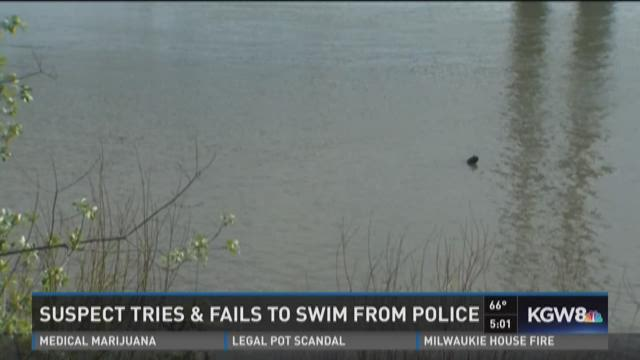 Man jumps into river to avoid arrest