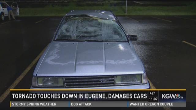 Watch: Man describes car lifted by Eugene twister