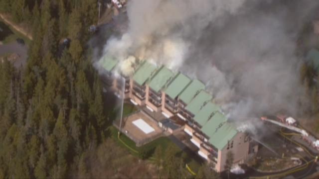 3-alarm fire burns condos in Government Camp