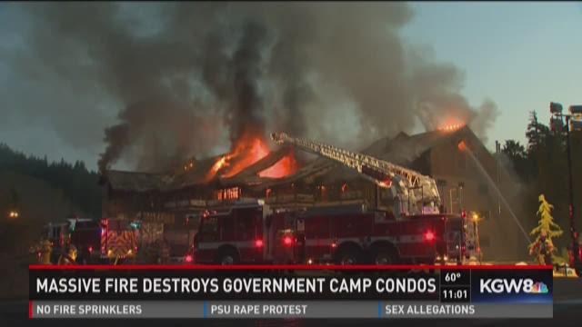 Massive fire destroys Government Camp condos