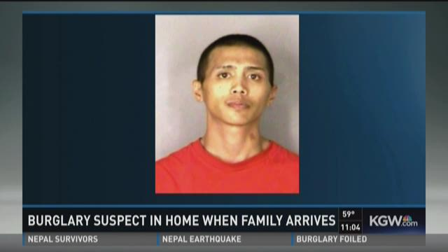 Salem burglary suspect in attic when family arrives home