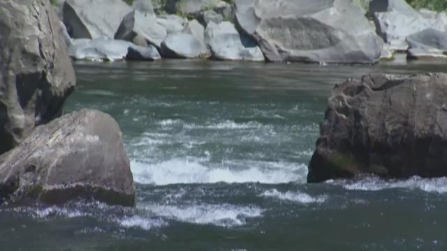 Low river levels can mean dangerous currents