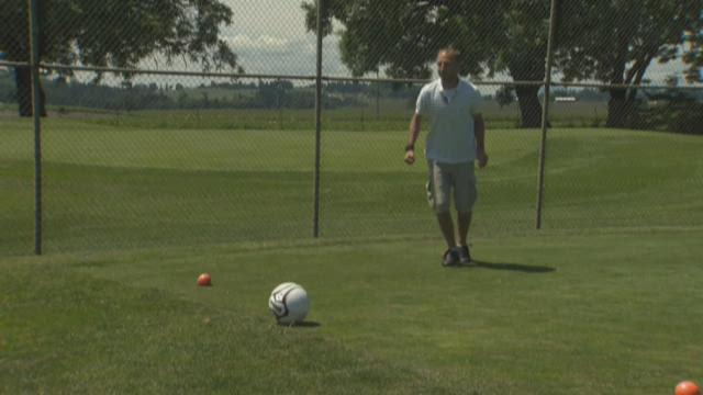 Footgolf is a kick at Forest Hills golf course