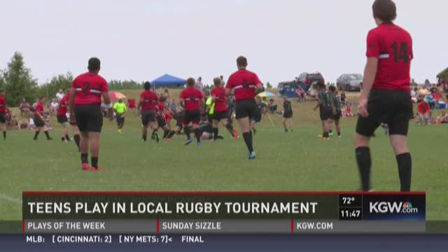 Teens play in local rugby tournament