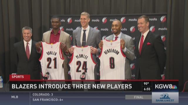 Blazers introduce new players