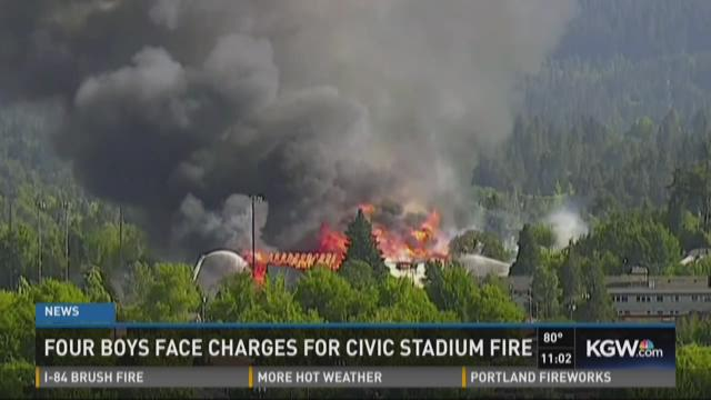A fire destroyed the historic stadium in Eugene.