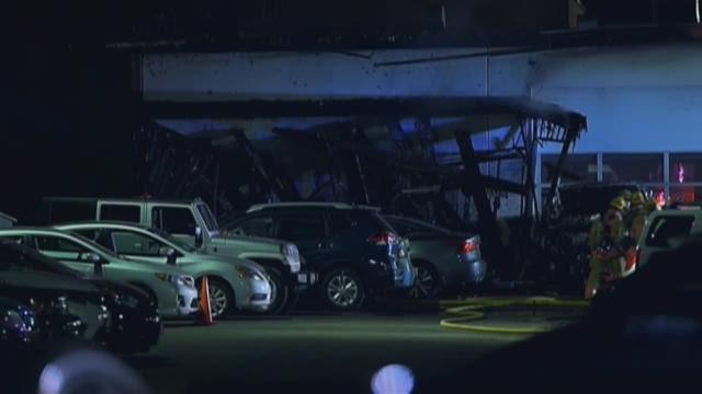 Fire damages Northeast car dealership