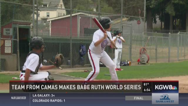 Team from Camas makes Babe Ruth World Series